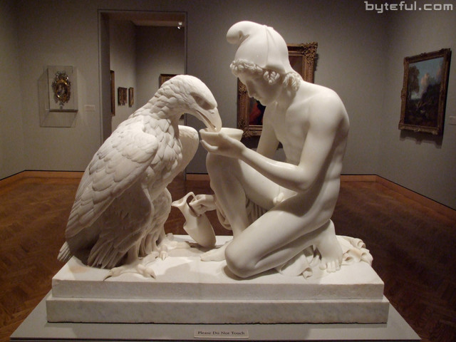 ganymede and the eagle, ganimede e l'aquila, bertel Thorvaldsen, neoclassicismo