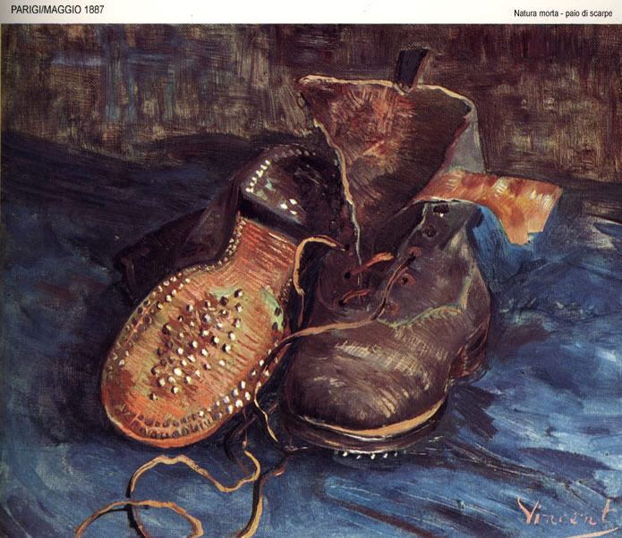 paio di scarpe, pair of shoes, vincent van gogh, 1887