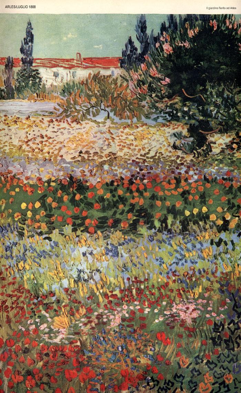 Vincent van gogh opere il giardino fiorito ad arles 1888 for Giardino fiorito