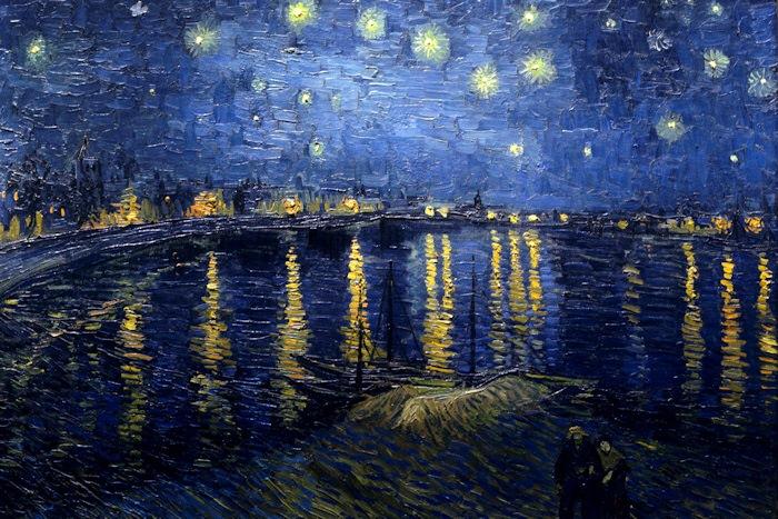 Vincent van gogh opere notte stellata sul rodano 1888 for Dipinto di van gogh notte stellata