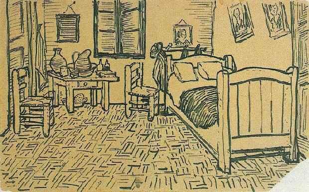 Vincent Van Gogh: Opere: Stanza da letto, 1888